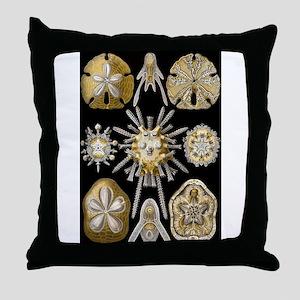 Vintage Marine Life Throw Pillow