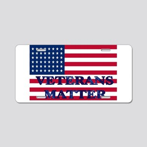 VETERANS MATTER Aluminum License Plate