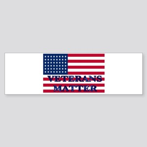 VETERANS MATTER Bumper Sticker
