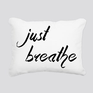 Just Breathe Rectangular Canvas Pillow