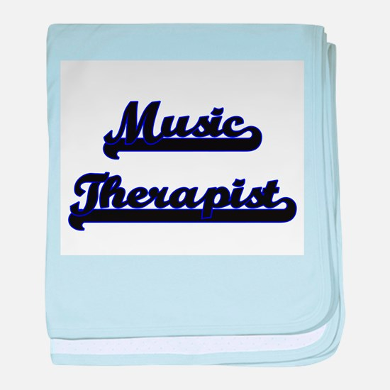 Music Therapist Classic Job Design baby blanket