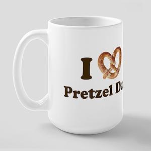 Pretzel Day Large Mug