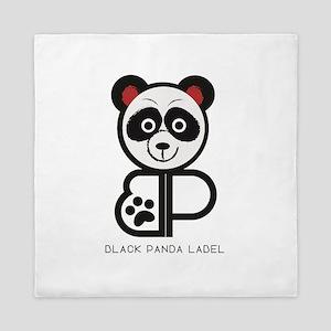 Black Panda Label Queen Duvet