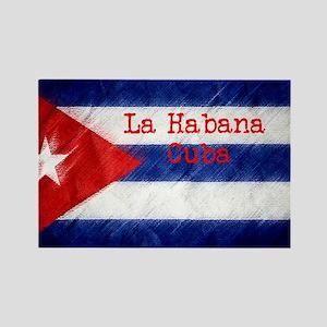 La Habana Cuba Flag Rectangle Magnet