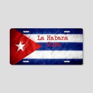La Habana Cuba Flag Aluminum License Plate