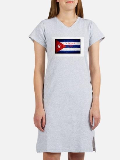 La Habana Cuba Flag Women's Nightshirt
