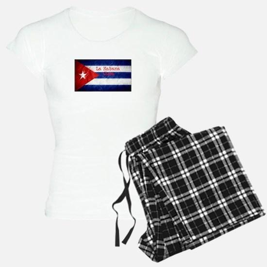 La Habana Cuba Flag Pajamas