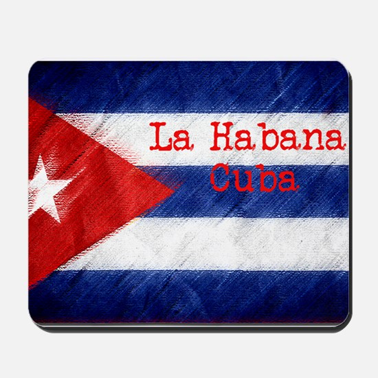 La Habana Cuba Flag Mousepad