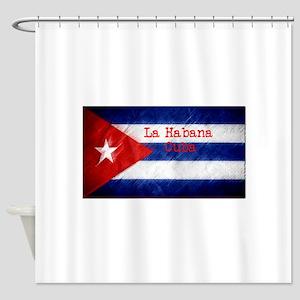 La Habana Cuba Flag Shower Curtain
