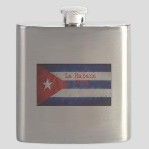 La Habana Cuba Flag Flask