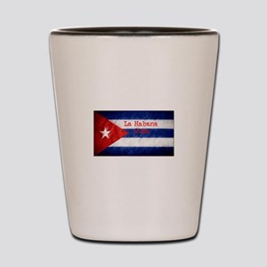 La Habana Cuba Flag Shot Glass