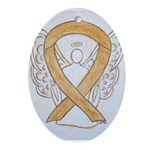 Amber Ribbon Angel Ornament (Oval)