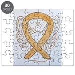 Amber Ribbon Angel Puzzle