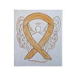 Amber Ribbon Angel Throw Blanket