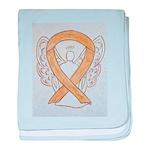 Amber Ribbon Angel baby blanket