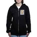 Amber Ribbon Angel Women's Zip Hoodie