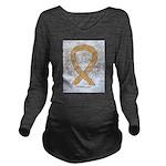 Amber Ribbon Angel Long Sleeve Maternity T-Shirt