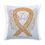 Amber Ribbon Angel Everyday Pillow