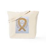 Amber Ribbon Angel Tote Bag