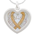 Amber Ribbon Angel Necklaces
