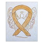Amber Ribbon Angel Posters