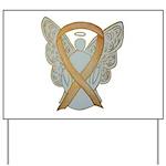 Amber Ribbon Angel Yard Sign