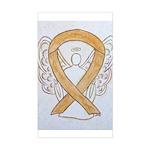 Amber Ribbon Angel Sticker
