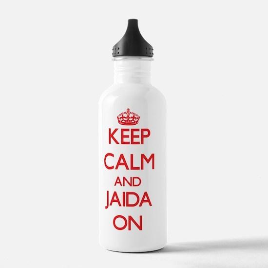 Keep Calm and Jaida ON Water Bottle