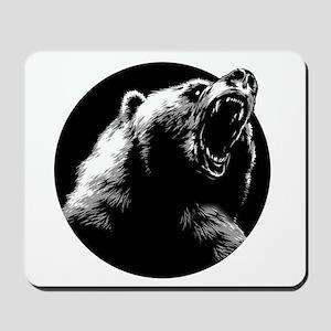 Menacing Grizzly Bear Mousepad