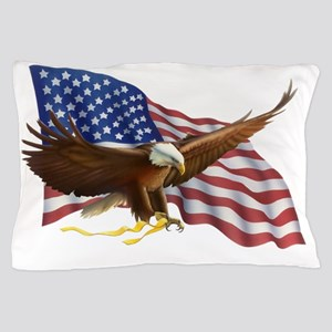American Flag and Eagle Pillow Case