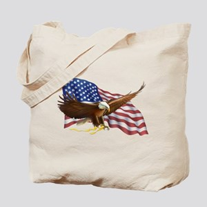American Flag and Eagle Tote Bag
