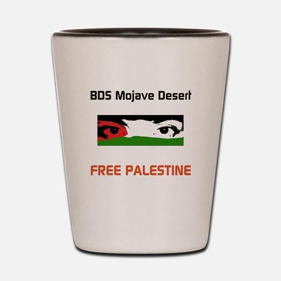 BDS Mojave Desert FREE PALESTINE Shot Glass