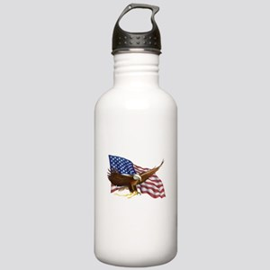 American Flag and Eagl Stainless Water Bottle 1.0L