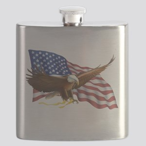 American Flag and Eagle Flask