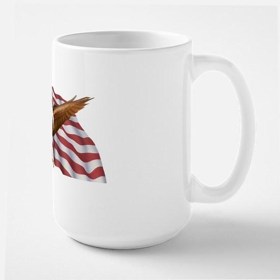 American Flag and Eagle Mugs