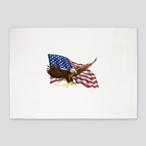 American Flag and Eagle 5'x7'Area Rug