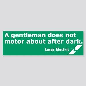 Lucas Electric Motor After Dark Bumper Sticker