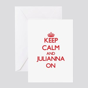 Keep Calm and Julianna ON Greeting Cards