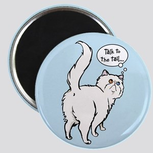 White Persian Tail Talk Magnet