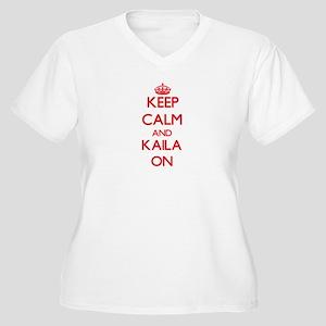 Keep Calm and Kaila ON Plus Size T-Shirt