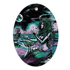 Mermaid Siren Atlantis Pearl Oval Ornament