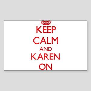Keep Calm and Karen ON Sticker