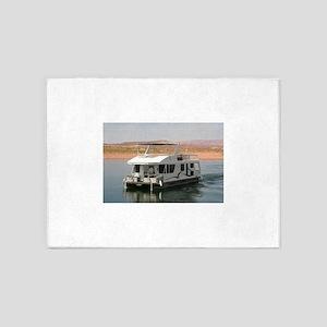 Houseboat, Lake Powell, Arizona, US 5'x7'Area Rug