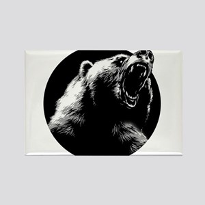 Menacing Grizzly Bear Magnets
