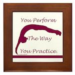 Gymnastics Framed Tile - Perform