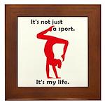 Gymnastics Framed Tile - Life