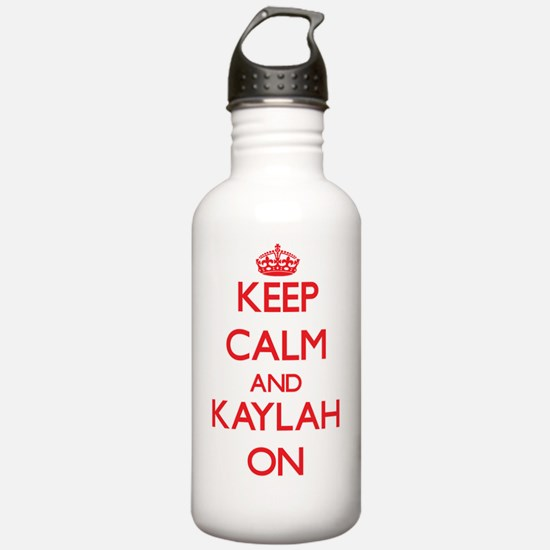 Keep Calm and Kaylah O Water Bottle
