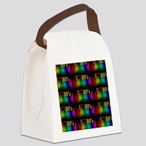 i love 80s Canvas Lunch Bag
