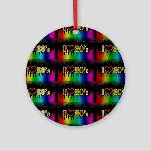 i love 80s Ornament (Round)