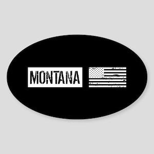 U.S. Flag: Montana Sticker (Oval)